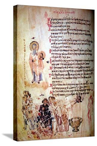 The Chludov Psalter, Ca 850--Stretched Canvas Print