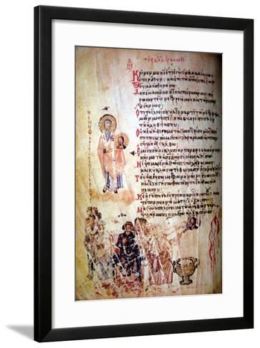 The Chludov Psalter, Ca 850--Framed Art Print