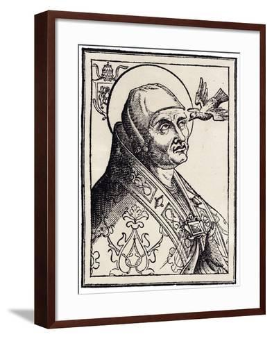 Pope Gregory I the Great--Framed Art Print