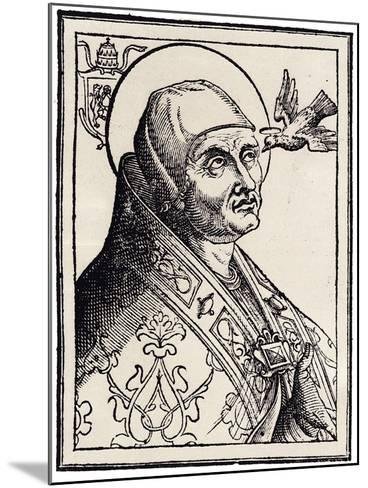 Pope Gregory I the Great--Mounted Giclee Print