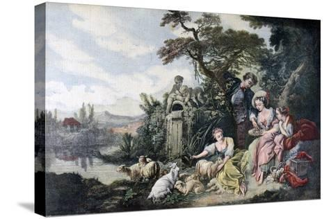The Shepherd's Gift, or the Nest, 1892-François Bouchot-Stretched Canvas Print