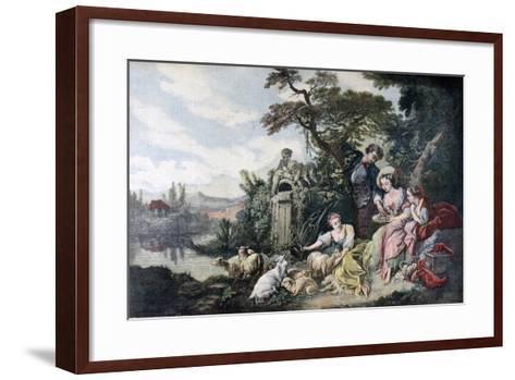 The Shepherd's Gift, or the Nest, 1892-François Bouchot-Framed Art Print
