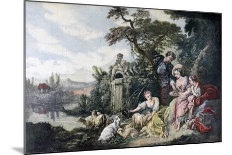 The Shepherd's Gift, or the Nest, 1892-François Bouchot-Mounted Giclee Print