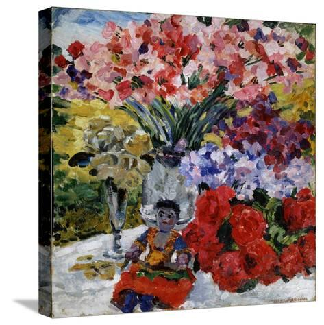 Flowers and a Doll, 1916-Mikhail Nikolayevich Yakovlev-Stretched Canvas Print