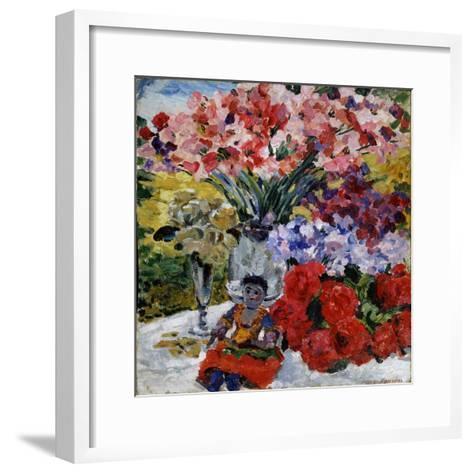 Flowers and a Doll, 1916-Mikhail Nikolayevich Yakovlev-Framed Art Print