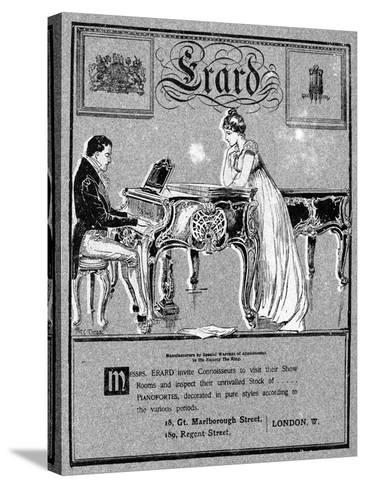 Advertisement for Erard Pianos, 1901--Stretched Canvas Print