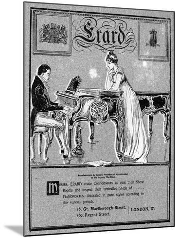 Advertisement for Erard Pianos, 1901--Mounted Giclee Print