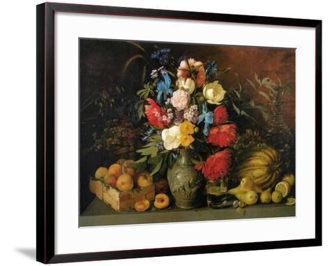 Flowers and Fruits, 1839-Ivan Phomich Khrutsky-Framed Art Print