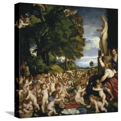 The Offering to Venus, 1518-1519-Titian (Tiziano Vecelli)-Stretched Canvas Print