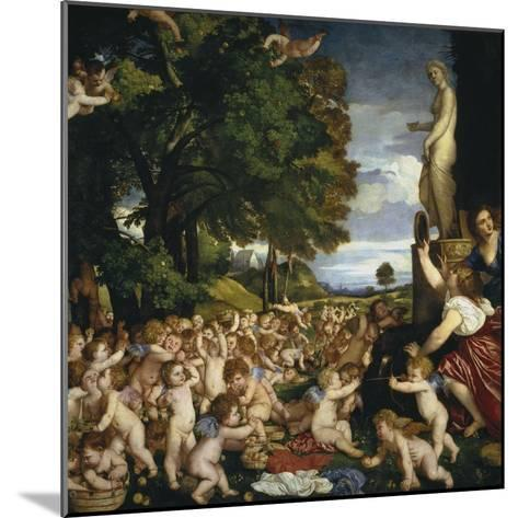 The Offering to Venus, 1518-1519-Titian (Tiziano Vecelli)-Mounted Giclee Print