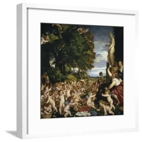 The Offering to Venus, 1518-1519-Titian (Tiziano Vecelli)-Framed Art Print