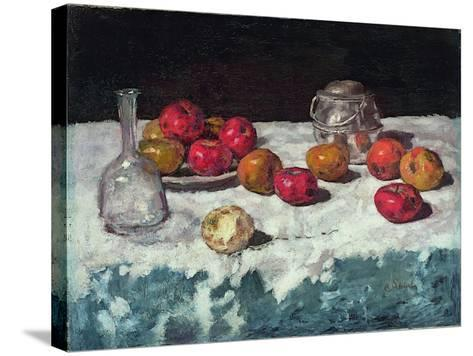 Still Life with Apples, 1889-Carl Schuch-Stretched Canvas Print