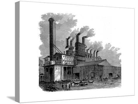 Blast Furnaces at the Phoenix Iron and Bridge Works, Phoenixville, Pennsylvania, USA, 1873--Stretched Canvas Print