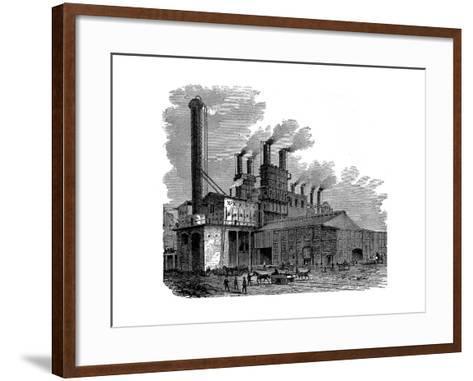 Blast Furnaces at the Phoenix Iron and Bridge Works, Phoenixville, Pennsylvania, USA, 1873--Framed Art Print
