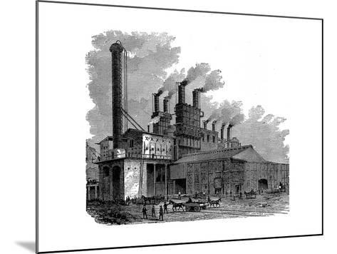 Blast Furnaces at the Phoenix Iron and Bridge Works, Phoenixville, Pennsylvania, USA, 1873--Mounted Giclee Print