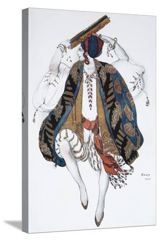 Jewish Dance. Costume Design for the Ballet Cléopatre, 1910-L?on Bakst-Stretched Canvas Print