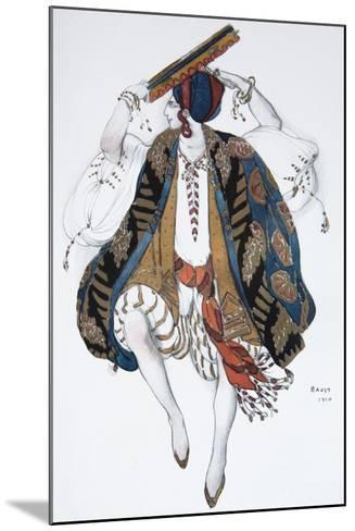 Jewish Dance. Costume Design for the Ballet Cléopatre, 1910-L?on Bakst-Mounted Giclee Print