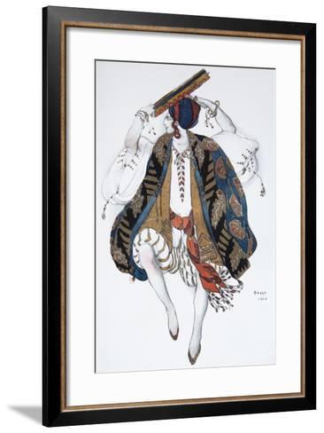 Jewish Dance. Costume Design for the Ballet Cléopatre, 1910-L?on Bakst-Framed Art Print