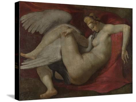 Leda and the Swan, after 1530-Michelangelo Buonarroti-Stretched Canvas Print