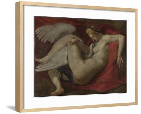 Leda and the Swan, after 1530-Michelangelo Buonarroti-Framed Art Print