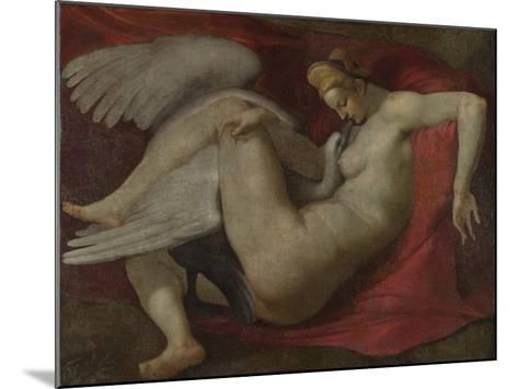 Leda and the Swan, after 1530-Michelangelo Buonarroti-Mounted Giclee Print