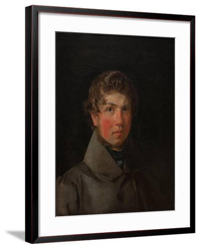 Self-Portrait, C.1833-Christen Schiellerup K?bke-Framed Art Print