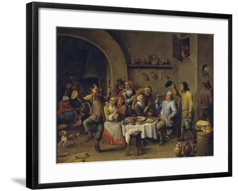 Twelfth Night Party, 1650-1660-David Teniers the Younger-Framed Art Print