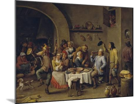 Twelfth Night Party, 1650-1660-David Teniers the Younger-Mounted Giclee Print