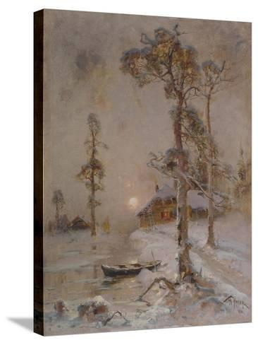 Winter Sunset, 1900-Juli Julievich Klever-Stretched Canvas Print