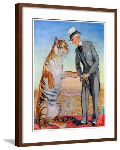 Lord Willingdon and Friend, 1934--Framed Art Print
