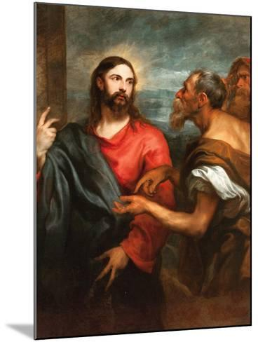 The Tribute Money, Ca 1625-Sir Anthony Van Dyck-Mounted Giclee Print