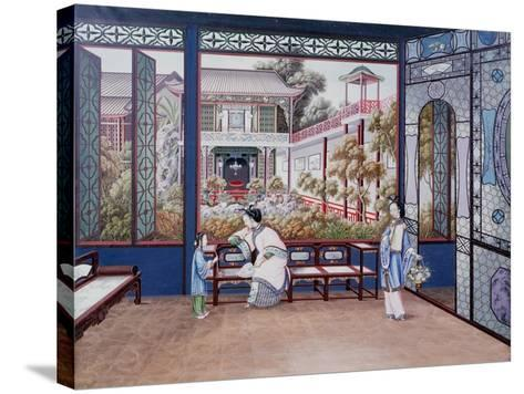 Chinese Domestic Scene, C1820--Stretched Canvas Print