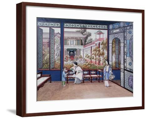 Chinese Domestic Scene, C1820--Framed Art Print