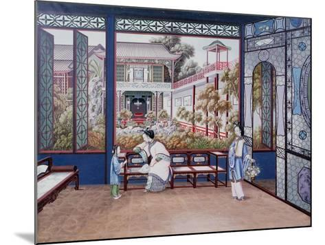 Chinese Domestic Scene, C1820--Mounted Giclee Print