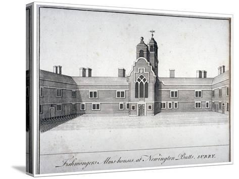Fishmongers' Almshouses at St Peter's Hospital, Newington Butts, Southwark, London, C1750--Stretched Canvas Print