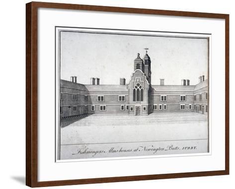 Fishmongers' Almshouses at St Peter's Hospital, Newington Butts, Southwark, London, C1750--Framed Art Print