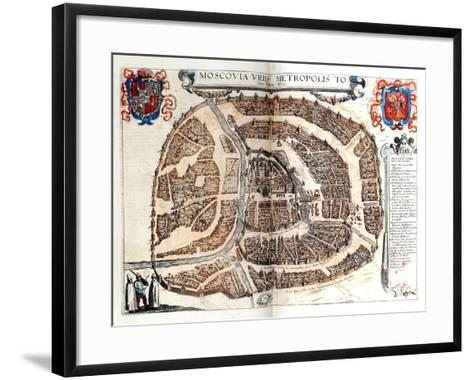 Map of Moscow, 1572-Georg Braun-Framed Art Print