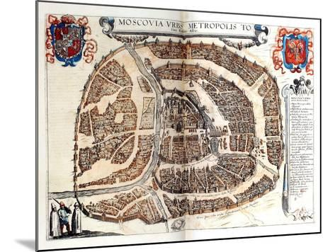 Map of Moscow, 1572-Georg Braun-Mounted Giclee Print