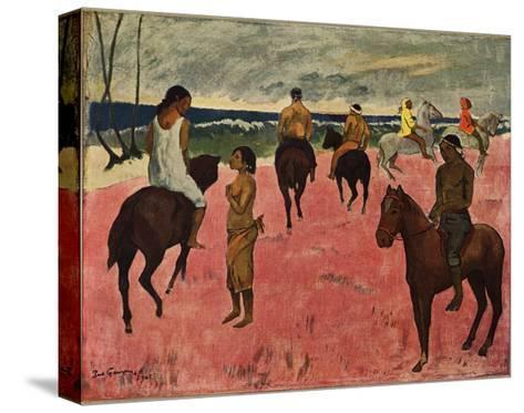 On Horseback at Seashore, 1902-Paul Gauguin-Stretched Canvas Print