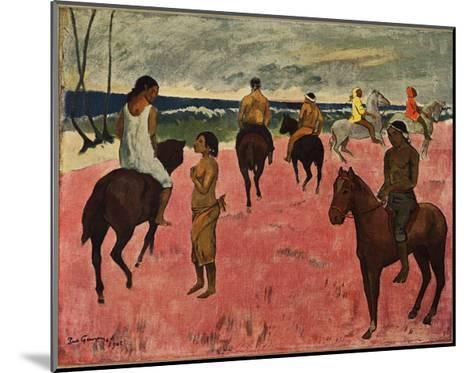 On Horseback at Seashore, 1902-Paul Gauguin-Mounted Giclee Print