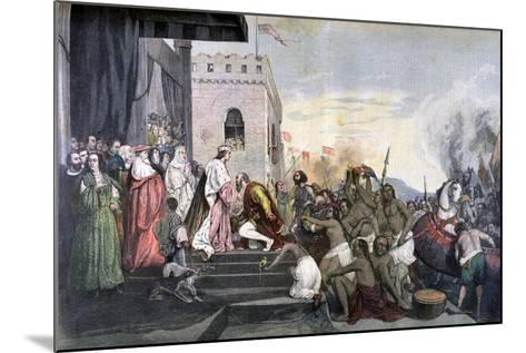 Return of Christopher Columbus, 1892--Mounted Giclee Print