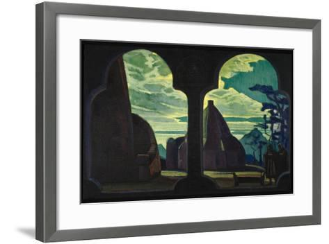 Stage Design for the Opera Tristan and Isolde by R. Wagner, 1912-Nicholas Roerich-Framed Art Print