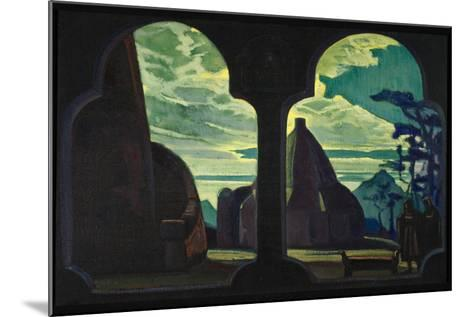 Stage Design for the Opera Tristan and Isolde by R. Wagner, 1912-Nicholas Roerich-Mounted Giclee Print