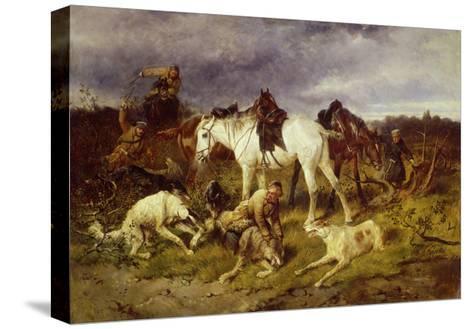 On the Hunting, 1870S-Nikolai Yegorovich Sverchkov-Stretched Canvas Print