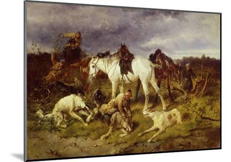 On the Hunting, 1870S-Nikolai Yegorovich Sverchkov-Mounted Giclee Print