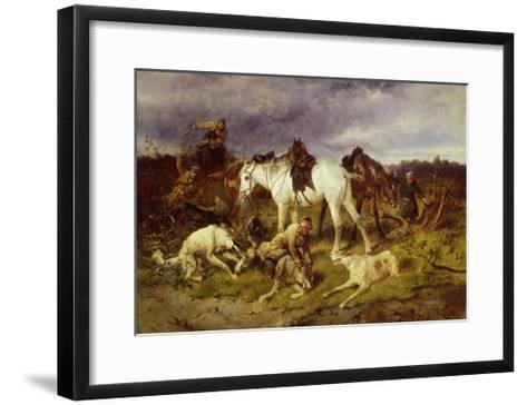 On the Hunting, 1870S-Nikolai Yegorovich Sverchkov-Framed Art Print