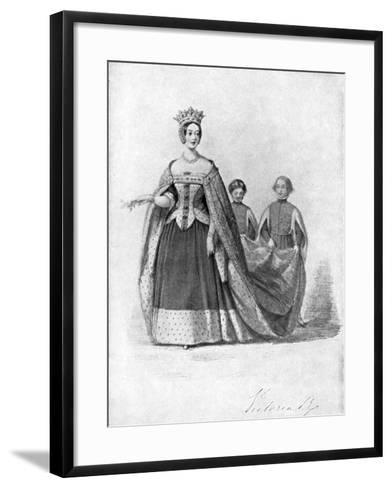 Queen Victoria as Queen Philippa at the Plantagenet Ball, Buckingham Palace, C1840s--Framed Art Print