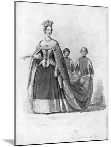 Queen Victoria as Queen Philippa at the Plantagenet Ball, Buckingham Palace, C1840s--Mounted Giclee Print