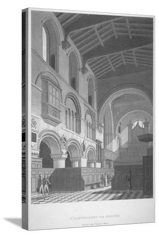 Interior View of the Church of St Bartholomew-The-Great, Smithfield, City of London, 1800--Stretched Canvas Print