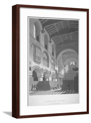 Interior View of the Church of St Bartholomew-The-Great, Smithfield, City of London, 1800--Framed Art Print